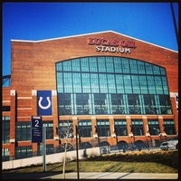 Photo taken at Lucas Oil Stadium by Katie B. on 2/25/2013