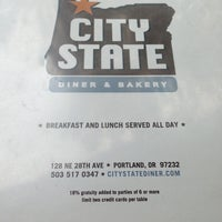 Photo taken at City State Diner and Bakery by Robbin G. on 6/20/2013