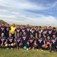 Photo taken at Campos De Futbol Las Minas by Alejandro S. on 1/30/2016