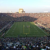 Photo taken at Notre Dame Stadium by Brandon Z. on 11/17/2012