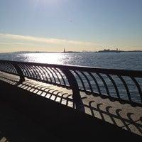 Photo taken at Hudson River Promenade by James B. on 11/6/2012
