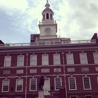 Photo taken at Independence Hall by María de los Ángeles L. on 5/23/2013