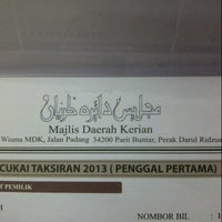 Photo taken at Majlis Daerah Kerian by Mdm zee on 1/22/2013