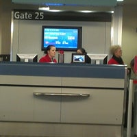 Photo taken at Gate 25 by lora L. on 1/28/2014