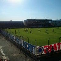Photo taken at Estádio Joaquim Henrique Nogueira (Arena do Jacaré) by Wilson L. on 3/3/2012
