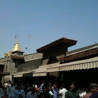 Photo taken at Shirdi Sai Baba Temple (Samadhi Mandir) by Vinod B. on 2/26/2012