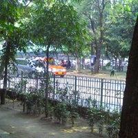 Photo taken at Depan Universitas Pancasila (UP) by Nizar P. on 7/28/2012