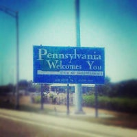 Photo taken at New York - Pennsylvania State Line by Melissa L. on 7/9/2012