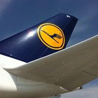 Photo taken at Lufthansa Flight LH 720 by Pamela Z. on 6/30/2012