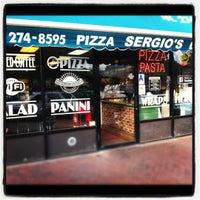 Photo taken at Sergio's Pizzeria & Gourmet Eatery by Calogero L. on 5/28/2012