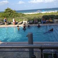 Photo taken at Poolside@ Miami Mariott by Strawberri R. on 7/27/2012