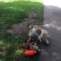 Photo taken at Hardy Park Dog Run by Raquel F. on 5/1/2014