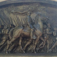Photo taken at Robert Gould Shaw Memorial by MD B. on 10/12/2015