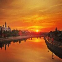 Photo taken at Bolshoy Kamenny Bridge by Anton U. on 5/11/2013