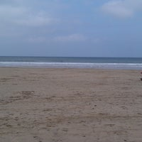 Photo taken at Towan Beach by Martin G. on 4/8/2013