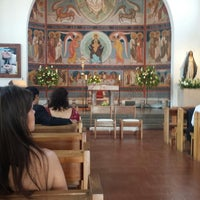 Photo taken at Parroquia Santa Rosa de Lo Barnechea by Carla T. on 1/25/2014