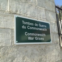 Photo taken at Tombes de Guerre du Commonwealth by Kristof D. on 4/7/2013