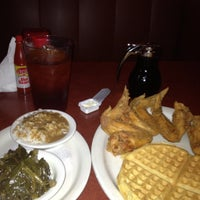 Photo taken at Gladys Knight's Signature Chicken & Waffles by Justin D. on 4/30/2013