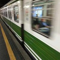 Photo taken at Metro Cadorna FN Triennale (M1, M2) by Gianluca P. on 5/14/2013
