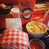Photo taken at Honey Bear's BBQ by Aaron P. on 1/15/2013