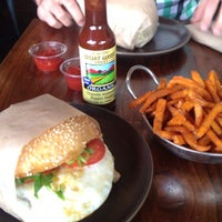 Photo taken at Roam Artisan Burgers by Fiona S. on 11/3/2012