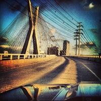 Photo taken at Ponte Octávio Frias de Oliveira (Ponte Estaiada) by Diego L. on 4/24/2013