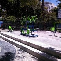 Photo taken at Praça Antero de Quental by Leonardo B. on 2/23/2014