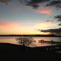 Photo taken at Lago Paranoá by Paulo Marcello(Lelo) D. on 5/18/2013