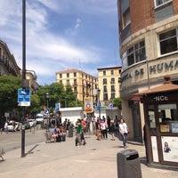 Photo taken at Plaza de Lavapiés by Aquilles S. on 6/6/2013