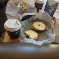 Photo taken at Bruegger's Bagels by Edina A. on 3/31/2014