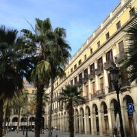 Photo taken at Plaça Reial by Pavel S. on 1/10/2013