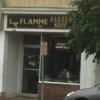 Photo taken at La Flamme Barber Shop by Martin O. on 6/17/2013