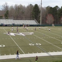 Photo taken at North Forsyth Football Stadium by Mike E. on 3/22/2013