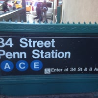 Photo taken at MTA Subway - 34th St/Penn Station (A/C/E) by mr noodle™ on 11/25/2012