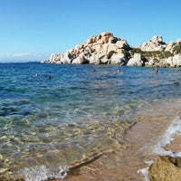 Photo taken at Capo Testa Spiaggia di Levante by Sergei S. on 8/2/2015