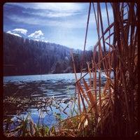 Photo taken at Großer Montiggler See / Lago Grande di Monticolo by bernard r. on 3/28/2016