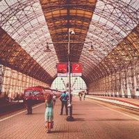 Photo taken at Kievsky Rail Terminal by Vitaly S. on 8/21/2013
