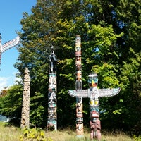Photo taken at Totem Poles in Stanley Park by Th_Aviator on 9/10/2014