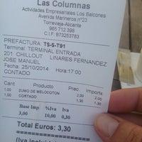 Photo taken at Restaurante Las Columnas by Bienve V. on 10/25/2014