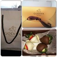 Photo taken at Godiva Chocolatier by Roslyn T. on 2/7/2015