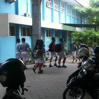 Photo taken at SMP Pangudi Luhur 1 Yogyakarta by Yanuar Yong S. on 3/20/2014