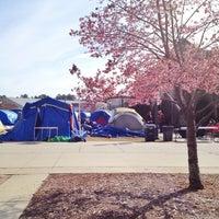 Photo taken at Krzyzewskiville by Melissa Y. on 2/4/2013