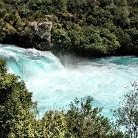 Photo taken at Huka Falls by Gaurav A. on 1/27/2013