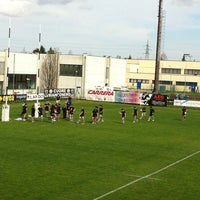 Photo taken at Campi Petrarca Rugby by Malefix N. on 4/13/2013
