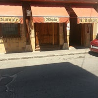 Photo taken at El Bodegon Restaurante - Mesón by oscar n. on 8/18/2013