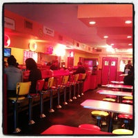 Photo taken at Lucky's Famous Burgers by Janine A. on 10/18/2012