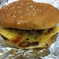 Photo taken at Five Guys by Jenny A. on 9/18/2012