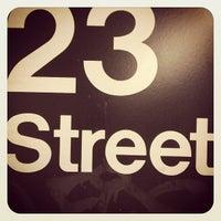 Photo taken at MTA Subway - 23rd St (C/E) by Corey K. on 4/15/2013