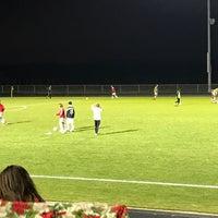 Photo taken at sun prairie high school soccer field by James T. on 10/27/2016