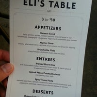 Photo taken at Eli's Table by Michael V. on 1/16/2013
